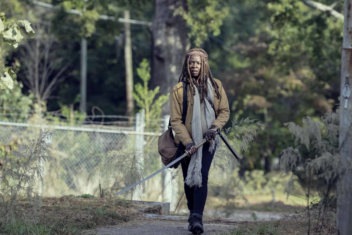 Michonne, en el episodio 9x14 Scars de The Walking Dead