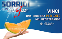 Logo Concorso ''Sorridi con Sugar'' : in palio Crociere MSC nel Mediterraneo