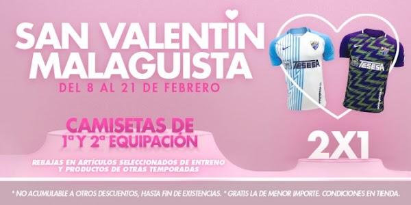 Málaga, ya está aquí el San Valentín más blanquiazul