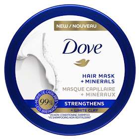 Dove Strengthens + White Clay Hair Mask + Minerals