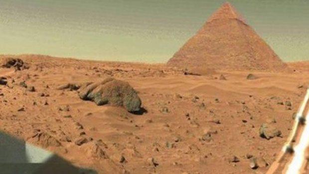 Pyramid found on Mars Pyramids of Mars