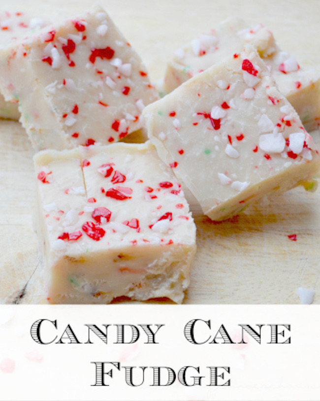 Candy Cane Fudge Recipe by Mommy Evolution featured at Pieced Pastimes
