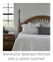 Minimalist Bedroom Refresh