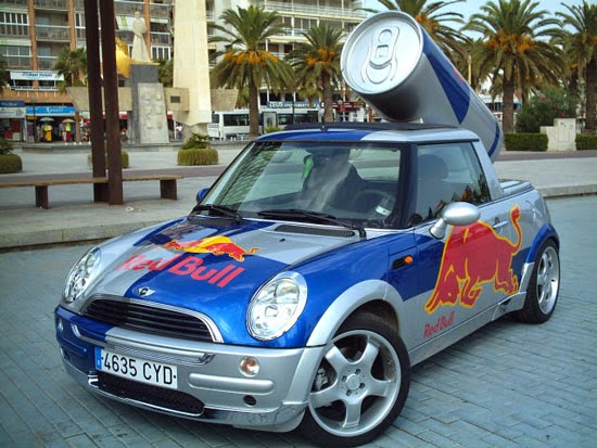 Red Bull Car Transport Advertising Brand