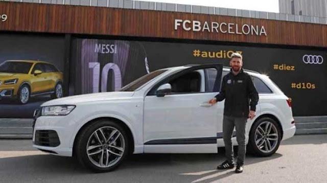 Messi+Car+Collection+Audi+Q7
