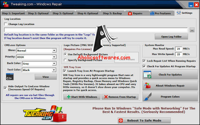 Windows Repair Pro is a utility that contains numerous mini-fixes for Windows.