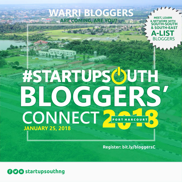 #STARTUPSOUTH BLOGGERS' CONNECT PORTHARCOURT 2018 | JANUARY 25, 2018