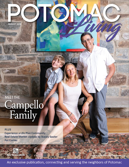 August 2019 cover of Potomac Living Magazine - Cover by Ksenia Pro