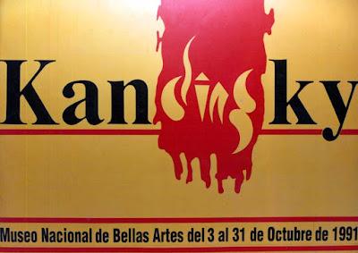 Afiche para vía pública, para exposición Vasili Kandinsky