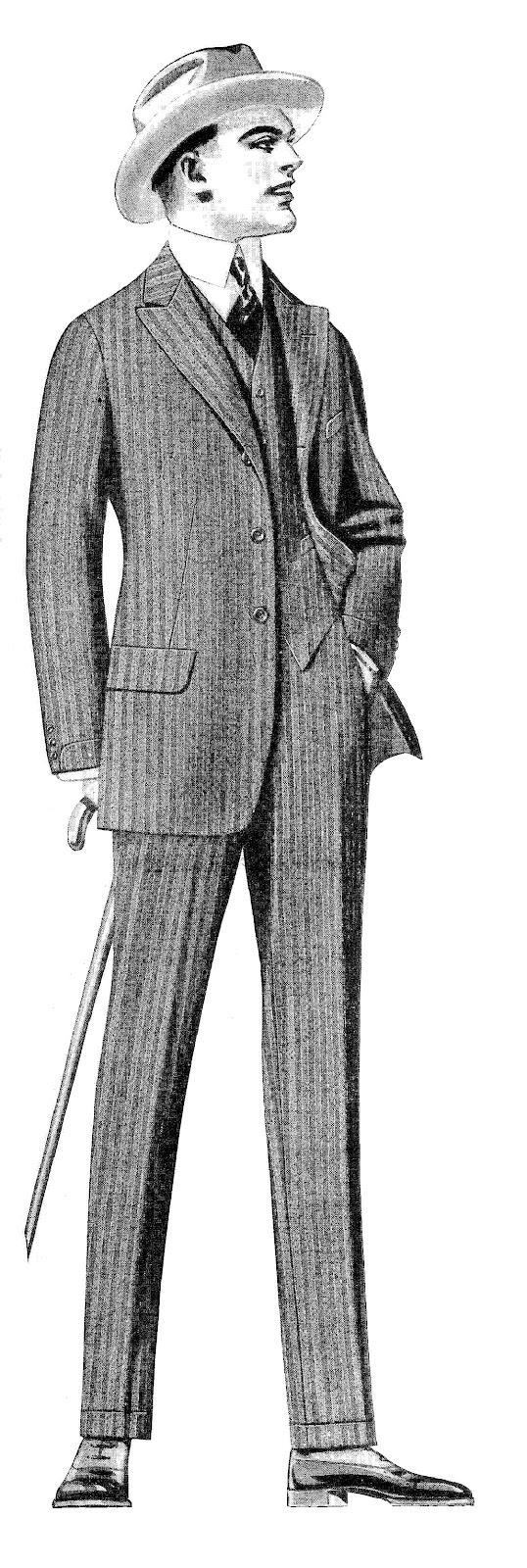 Antique Images: Vintage Men's Fashion Clip Art: 2 Vintage ...