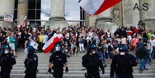 فيروس كورونا ألمانيا.. مئات المعتقلين بعد مظاهرات مناهضة للفيروس .