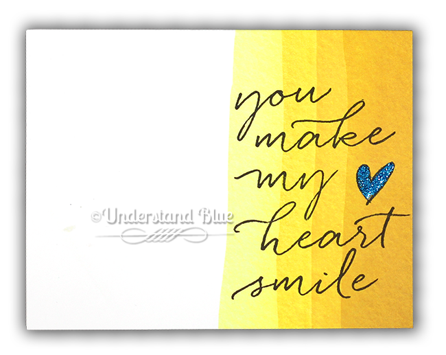 You Make my Heart Smile Card by Understand Blue