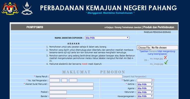 Jawatan Kosong di Perbadanan Kemajuan Negeri Pahang PKNP