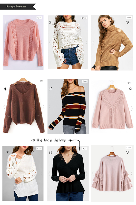 A Glad Diary: Rosegal Sweaters: Fall 2018 Wishlist