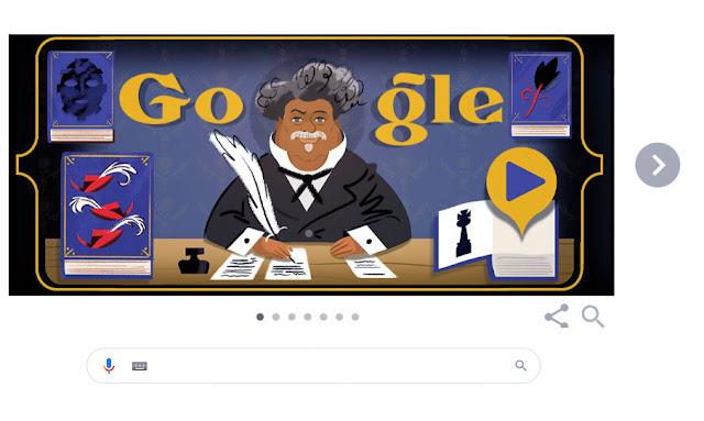 """جوجل تحتفى  بالكاتب الفرنسي ألكسندر دوما صاحب """"الكونت دى مونت كريستو"""""""