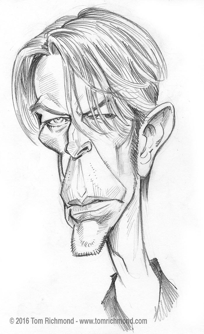 David Bowie por Tom Richmond