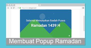 Cara Membuat Popup Ramadan Seperti Punya Arlina