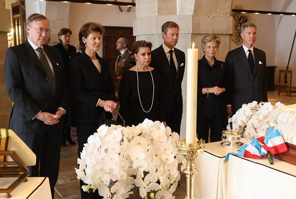 Grand Duchess Maria Teresa, Hereditary Grand Duke Guillaume and Hereditary Grand Duchess Stephanie