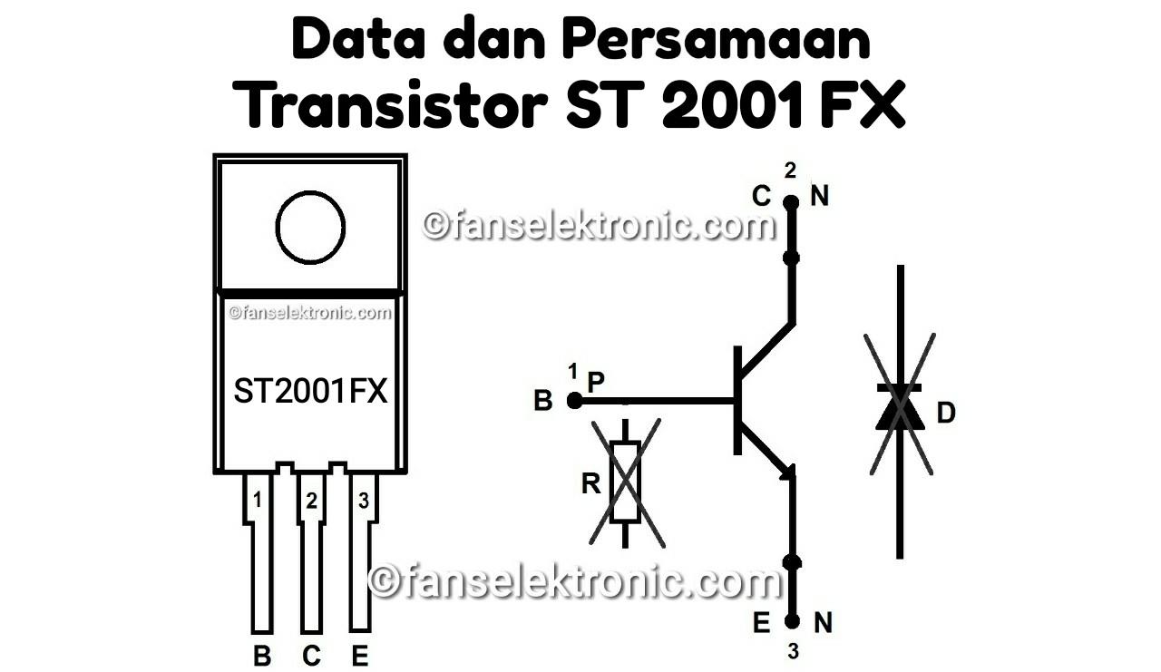 Persamaan Transistor ST2001FX