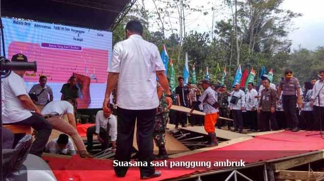 Duh, Panggung Utama untuk Presiden Jokowi Ambruk Saat Digunakan