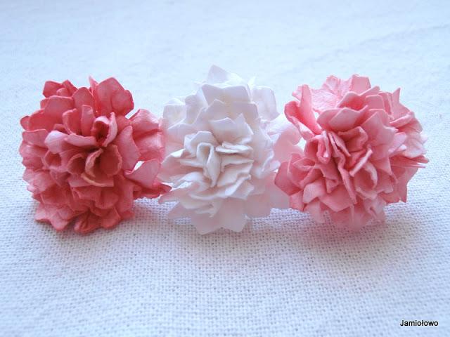 kwiaty ręcznie robione do scrapbookingu