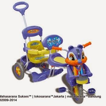Sepeda Roda Tiga Royal RY7798C Baby Joy Tupai 2 Kursi