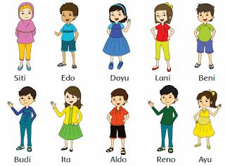 nama-nama teman Siti dan kelompok jenis kelaminya www.simplenews.me