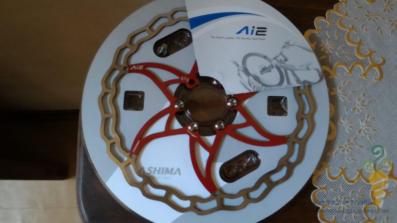 The World/'s lightest Disc brake rotor 97g 180mm-Red vs Ashima Ai2 Ai 2 1 pc