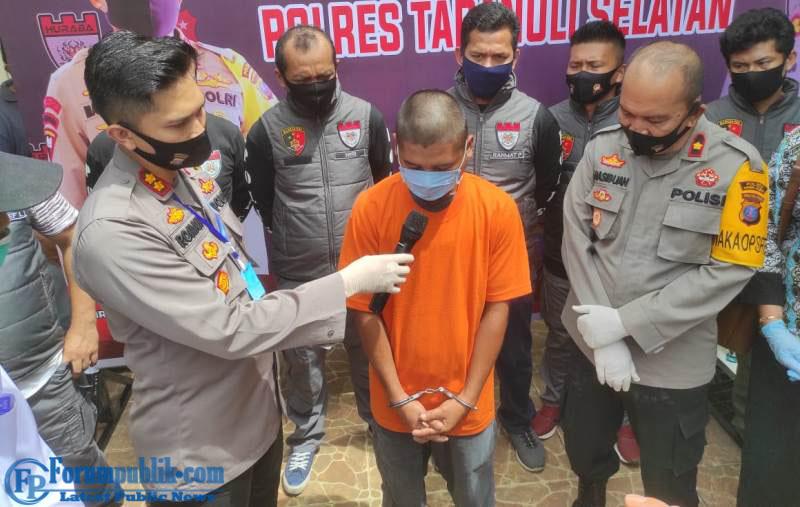 Polisi Bekuk Pelaku Predator yang Cabuli 4 Bocah di Tapsel