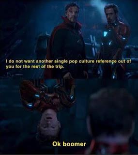 OK Boomer Meme by @starknson on Instagram
