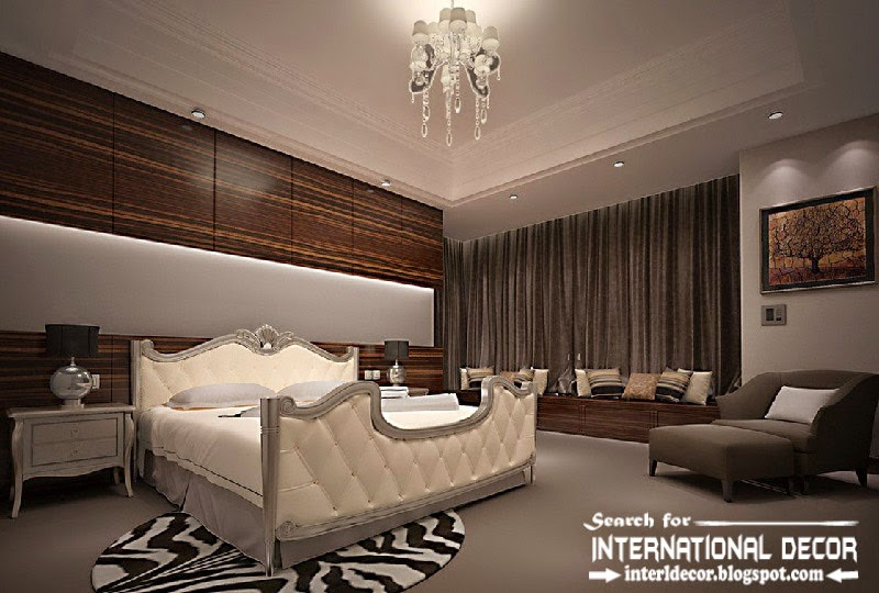 luxury bedroom decorating ideas designs furniture 2015, luxury white bed leather