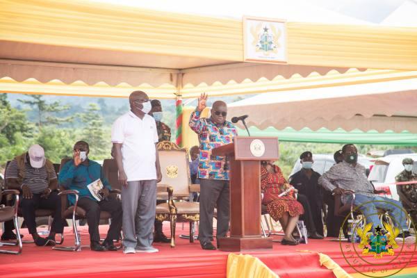 President Akufo-Addo Cuts Sod For €15 Million Solid Waste Treatment Facility At Sefwi Wiawso