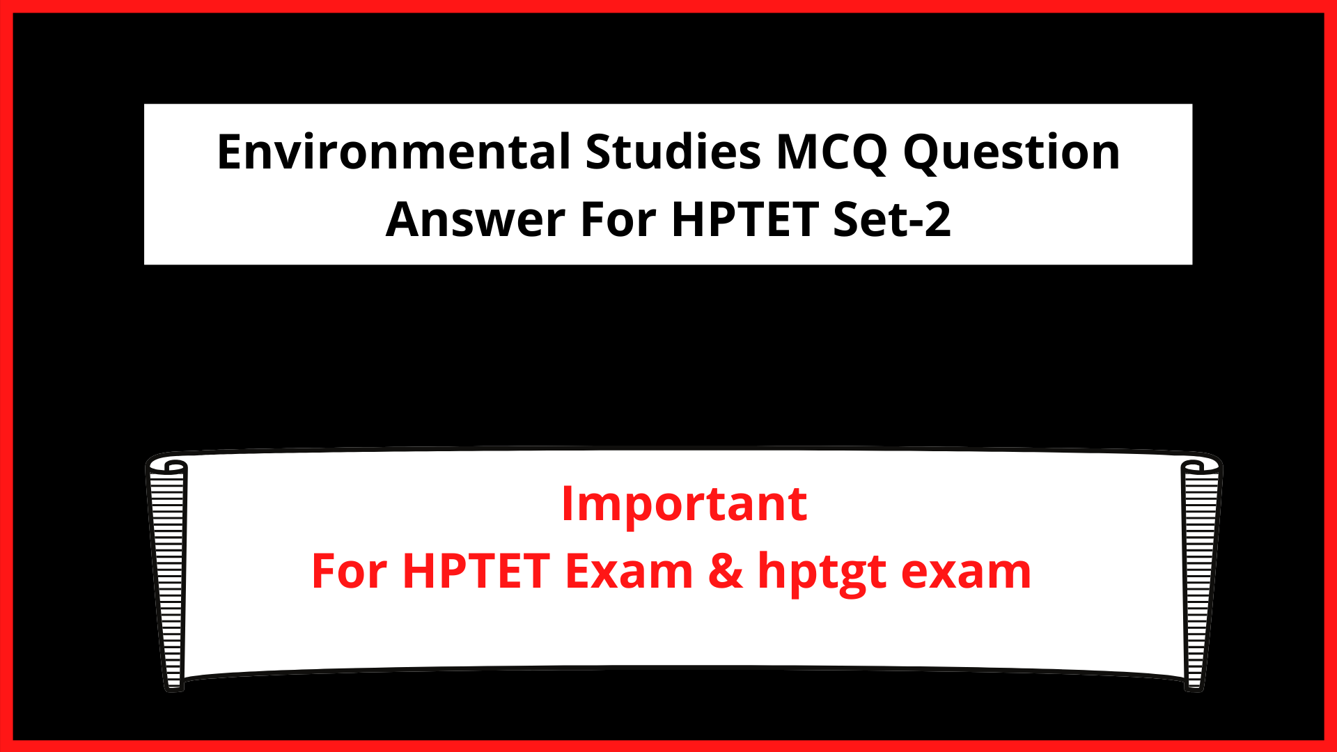 Environmental Studies MCQ Question Answer For HPTET Set-2