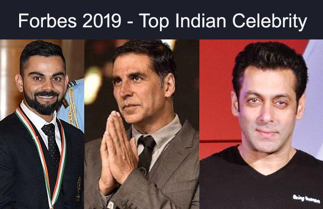 Virat Kohli, Forbes India Top 100 Celebrities, Akshay Kumar, Salman Khan, Shahrukh Khan, Deepika Padukone