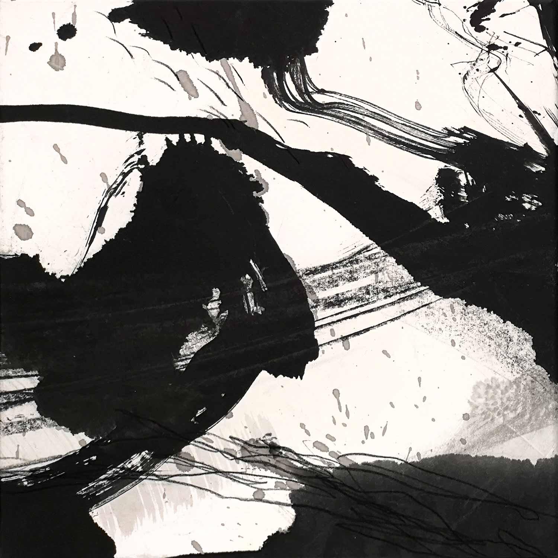 Encre et lavis sur papier de riz marouflé sur toile © Annik Reymond
