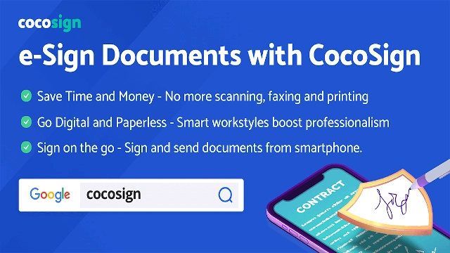 e-Sign documents with cocosign