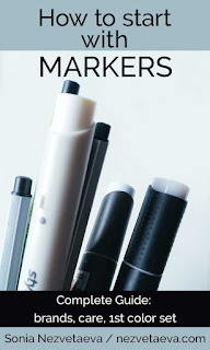 Markers, How to start, Sonia Nezvetaeva, art blog