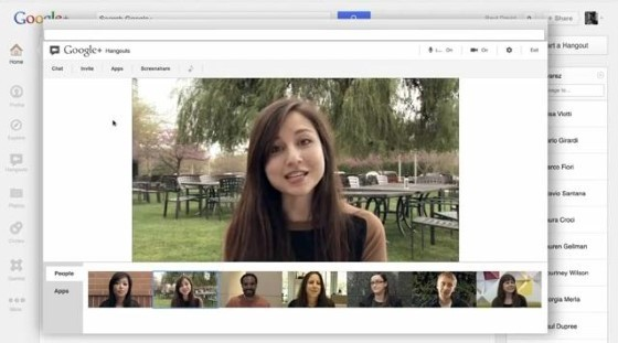 google hangouts group video call