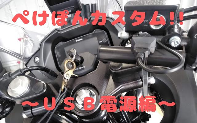 GSX250R USB電源 ニューイング