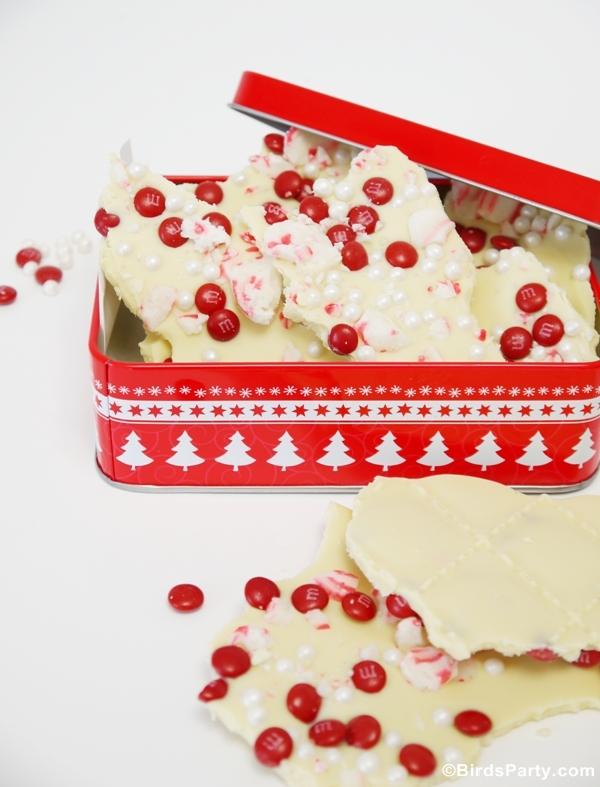 White Chocolate and Peppermint Bark Recipe - BirdsParty.com