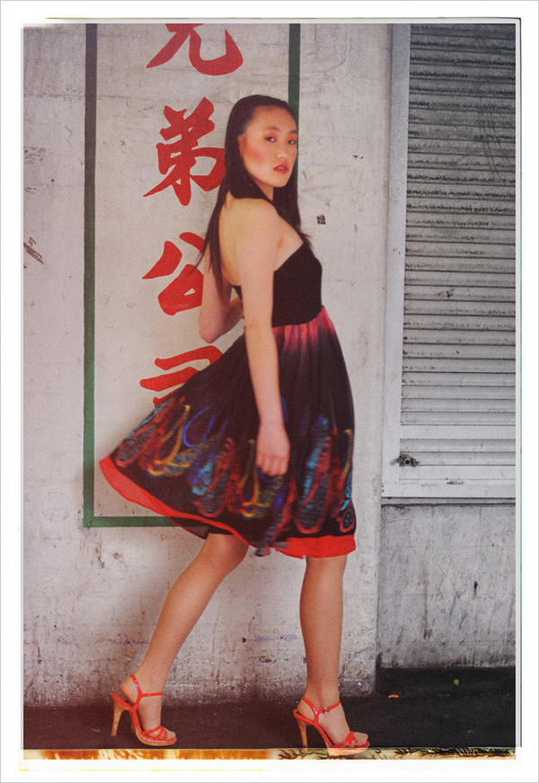 Sunny, Polaroid style fashion photograph, out of focus - Chinatown 2007 New Edition, Photographed by Kent Johnson