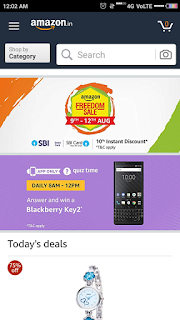 Blackberry Key2 quiz time answer