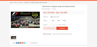 Dapatkan promo harga nonton balap di singapore