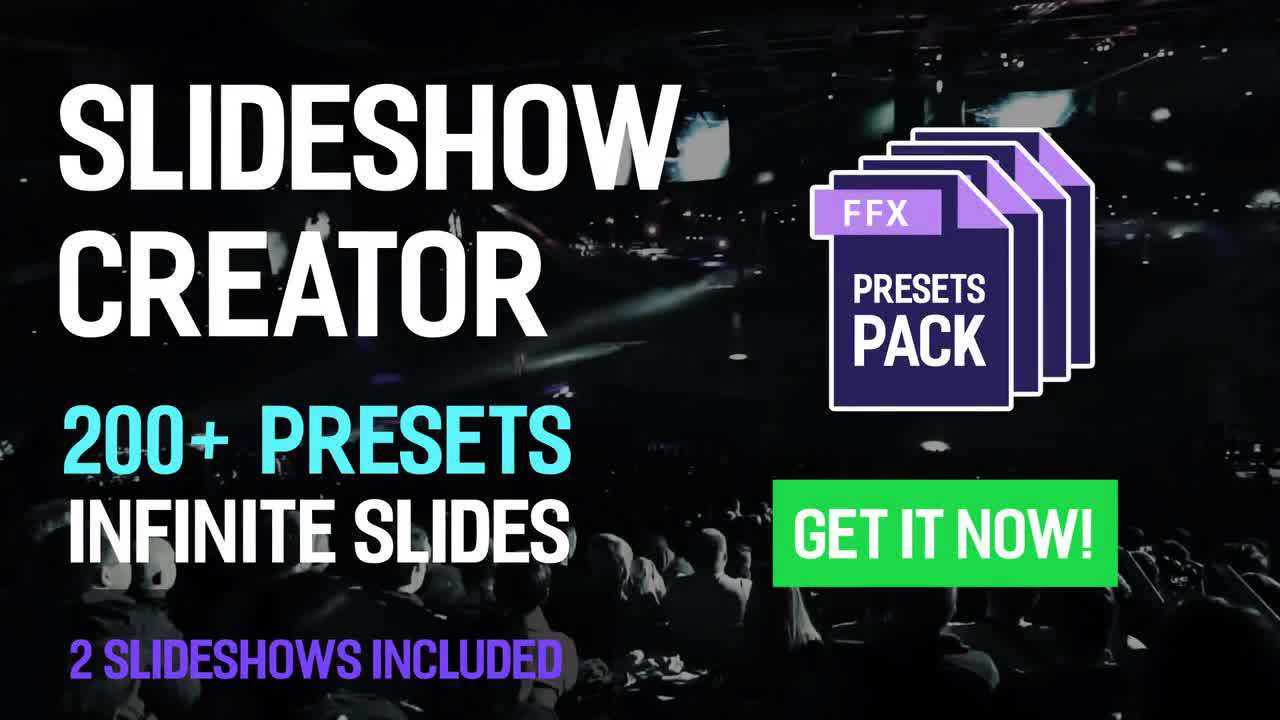 Slideshow Creator – 200+ Presets Pack