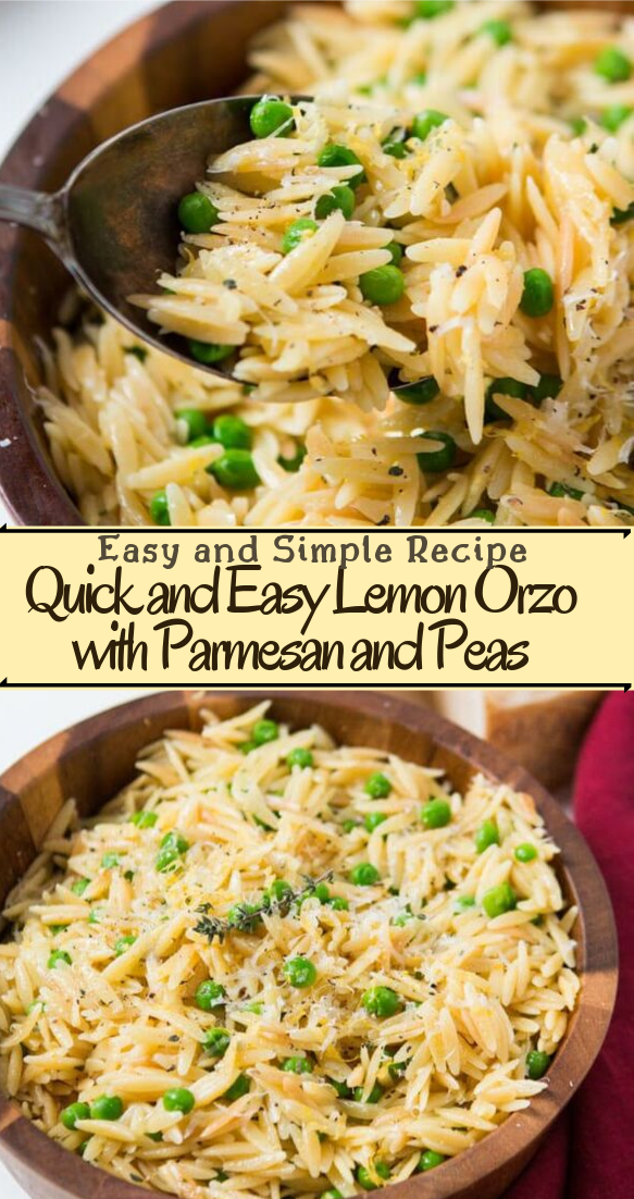 Quick and Easy Lemon Orzo with Parmesan and Peas #vegan #vegetarian #soup #breakfast #lunch