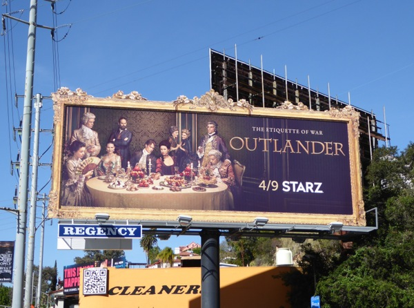 Outlander season 2 painting frame billboard