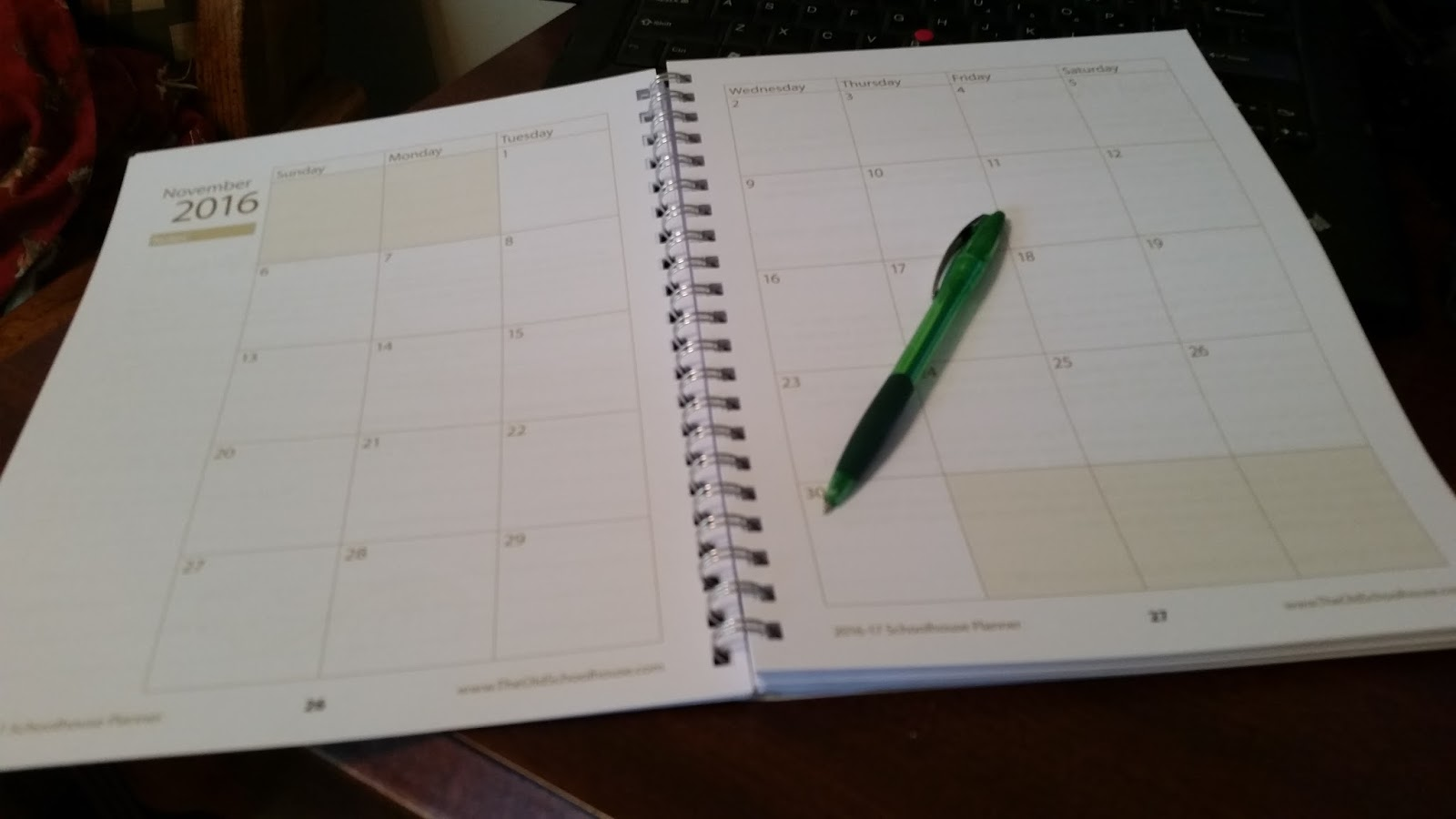 ... the actual calendar pages the last month in this calendar is june 2017