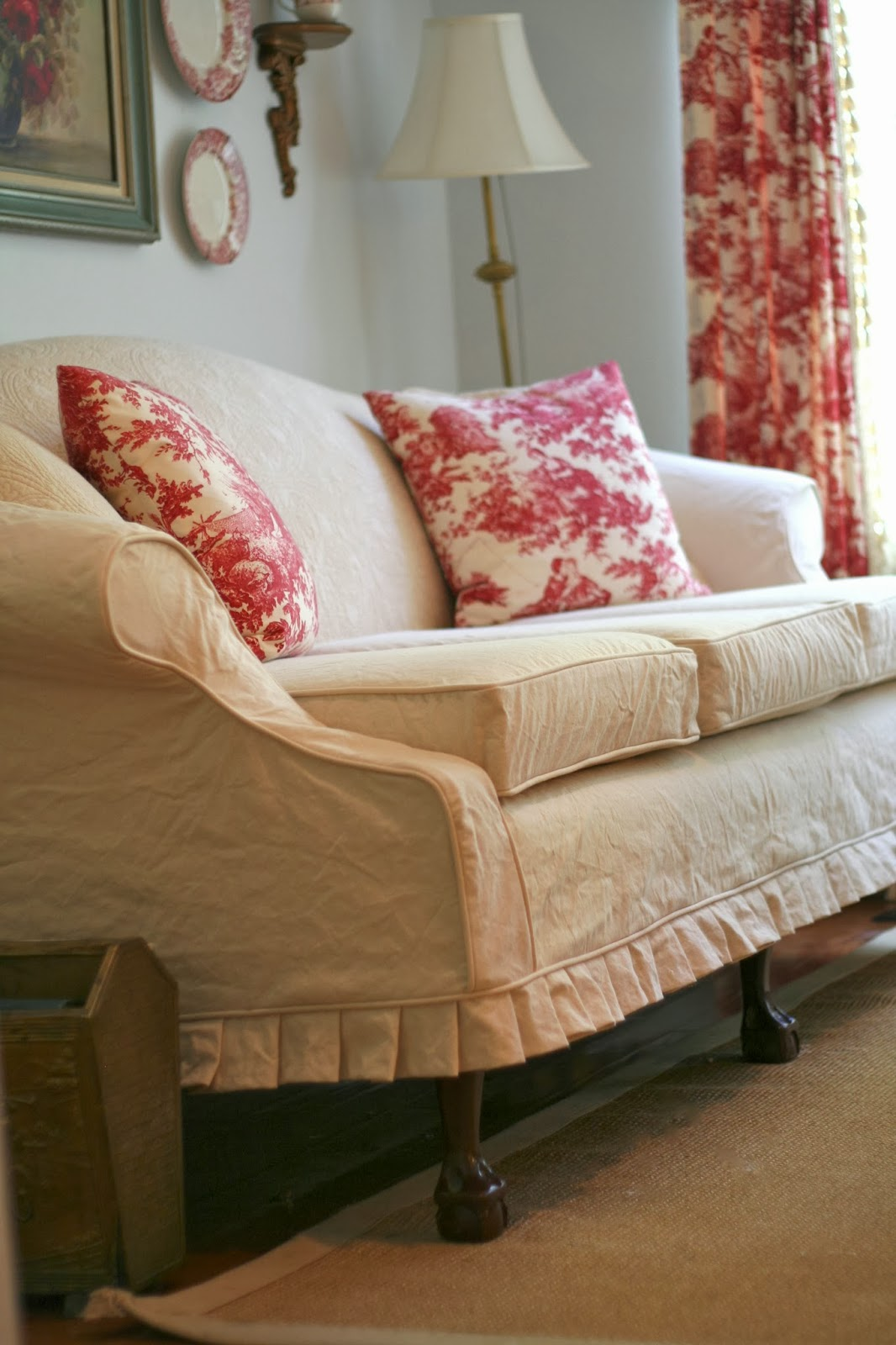 How To Make A Slipcover For Sofa Chair Mission Style Table Cherry Custom Slipcovers By Shelley Vintage Quilt Couch