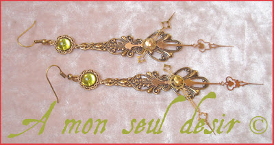 boucles d'oreilles steampunk aiguilles de montre steampuink earrings clock hands