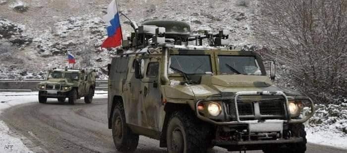 دورية روسية لحفظ السلام في ناغورني كاراباخ.ومقتل خبير ألغام روسي بانفجار